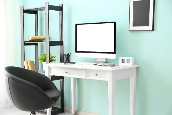 homeschool room essentials small space classroom setup with small desk and chair