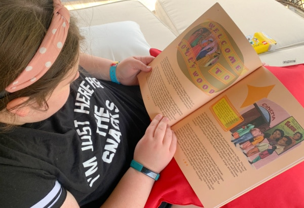 Honest History review: teenage girl reading History Curriculum for Homeschool