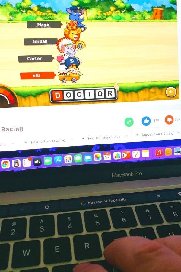 Jungle Racing Keyboarding Typing Game