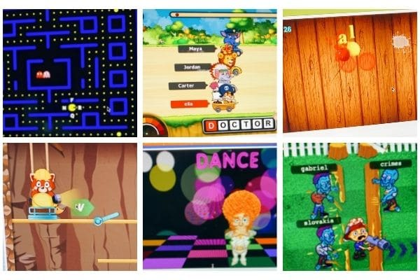 screen shots of best Keyboarding Typing Games like video games