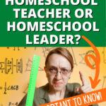 HOMESCHOOL TEACHING IDEAS: Understanding Homeschool Teachers vs Homeschool Leaders stern looking teacher pointing her finger with a raised ruler
