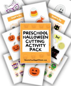 preschool halloween cutting printables