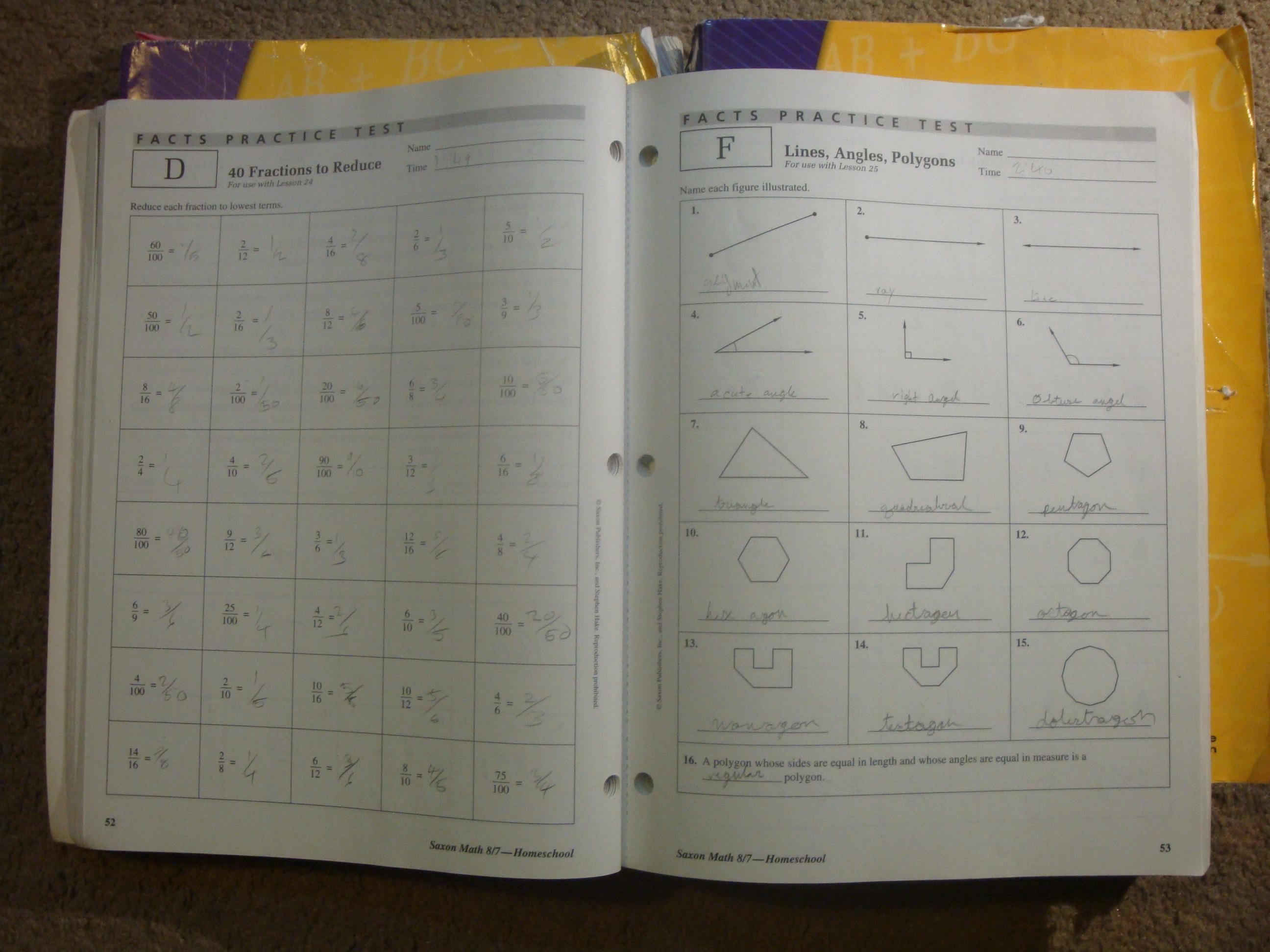 Saxon Math Grade 8 7 Homeschool Travelers