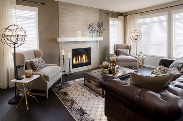 Brown Leather Furniture Living Room Ideas | Catosfera.net