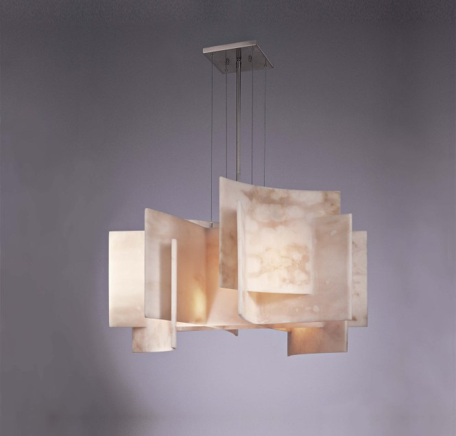 Cute George Kovacs Lighting In Nickel With Chandeliers From Kimono Collection