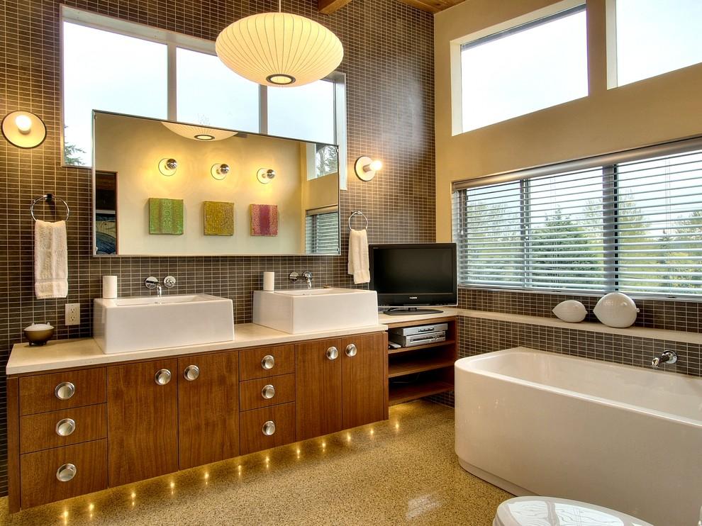 mid century modern vanity upgrades every bathroom with perfect
