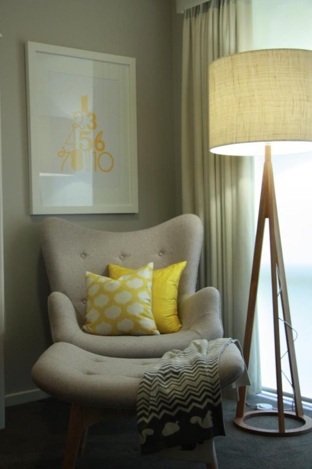 Half Yellow Chair And