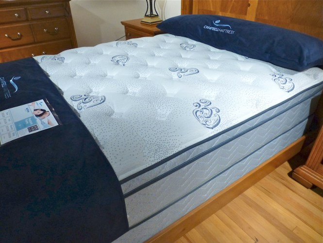 Adorable Shifman Mattress Review With Blue Sheet On Tuf Pattern Fl Accent Wooden Floor