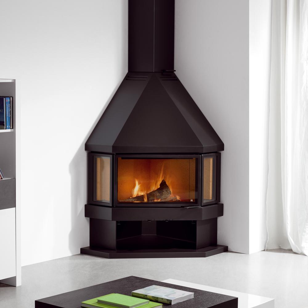 Simplify Your Indoor Warming Stuff With Corner Wood