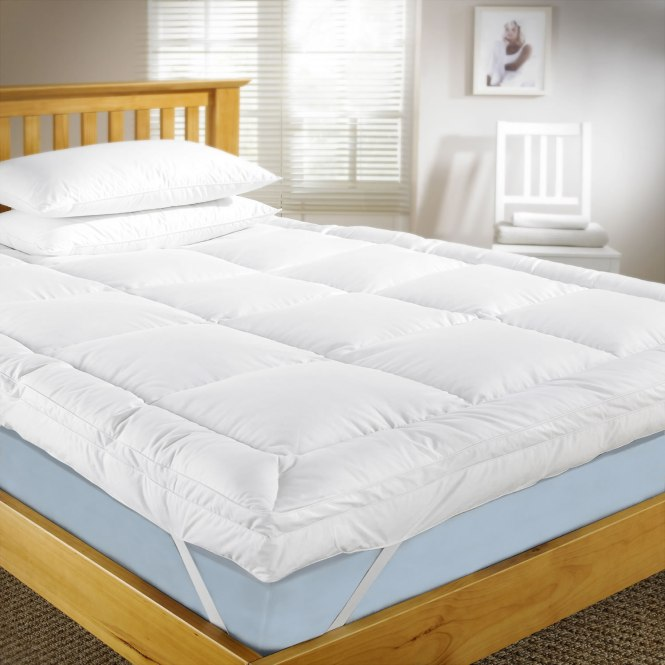 Cozy Ikea Mattress Topper With White Pillows Wooden Bed Frame Idea Headboard