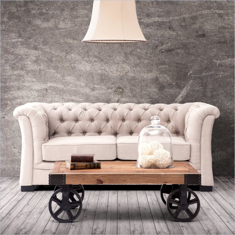 Nicole Miller Home Decor     Always Up to Date and Fashionable   HomesFeed best nicole miller home decor with chesterfield sofa in cream tone with  vintage wooden coffe table