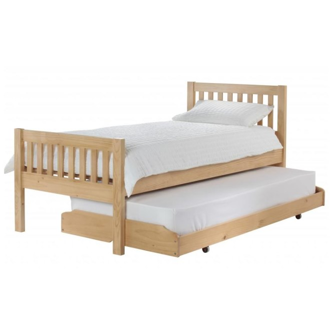 Unfinished Wood Pull Out Bed With Wheels Frame Selections Homesfeed
