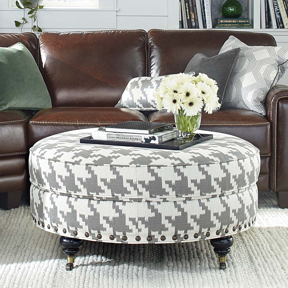 Oval Ottoman Coffee Table Storage
