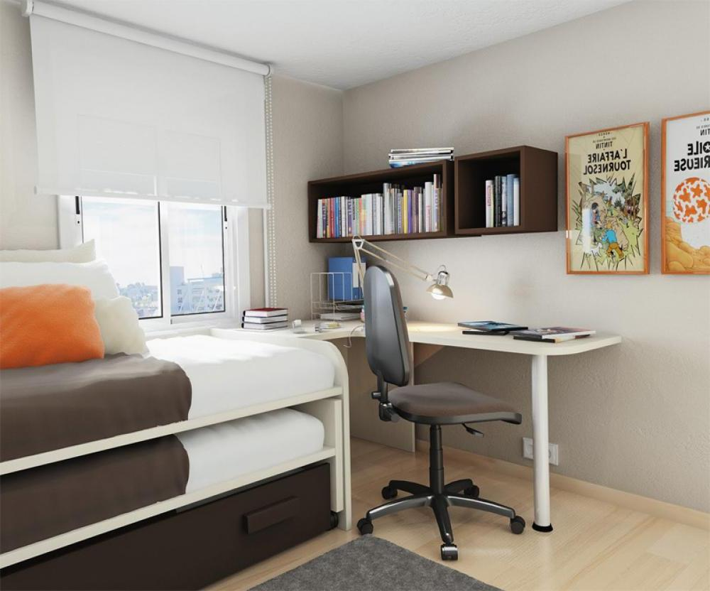 Small Bedroom Desks For A Narrow Bedroom Space HomesFeed