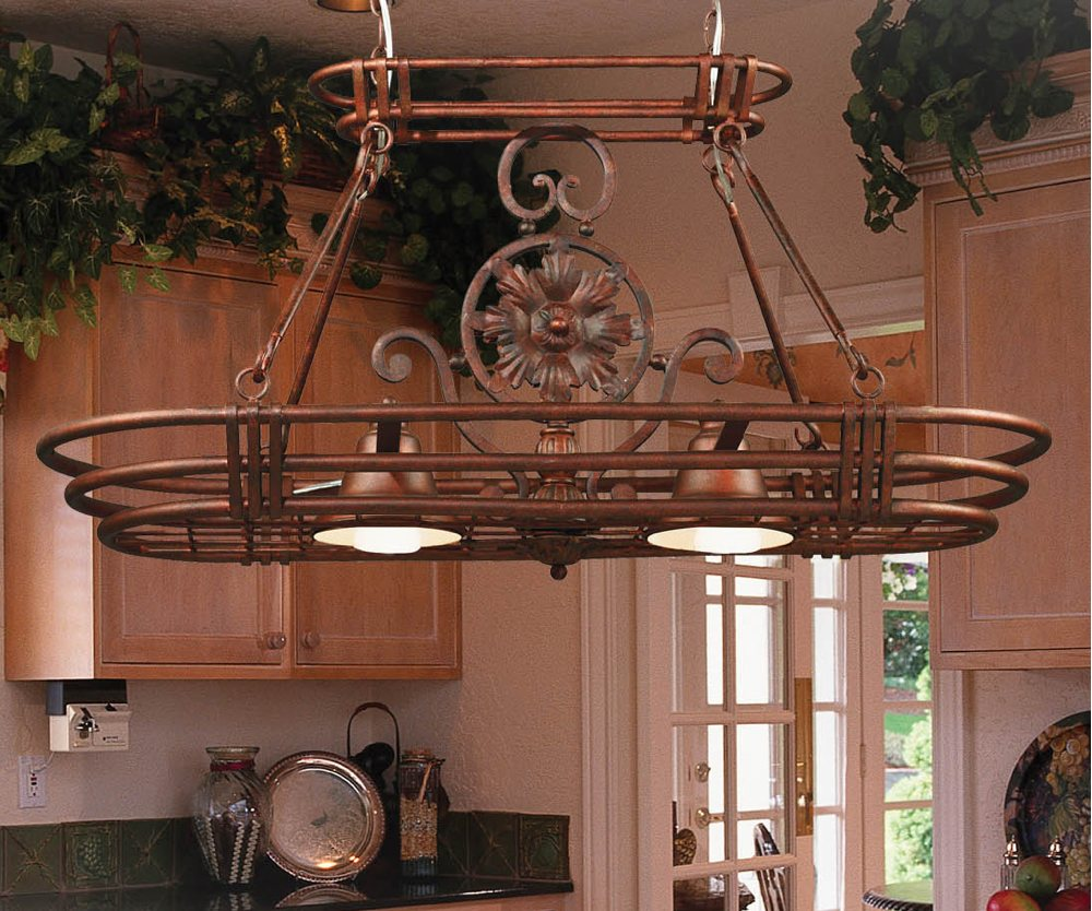 Pot Rack With Lights HomesFeed