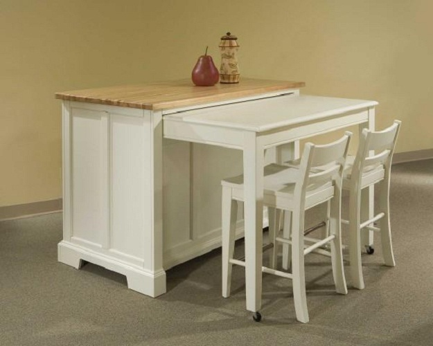 appealing kitchen center island tables | Space Saving Kitchen Island with Pull Out Table | HomesFeed