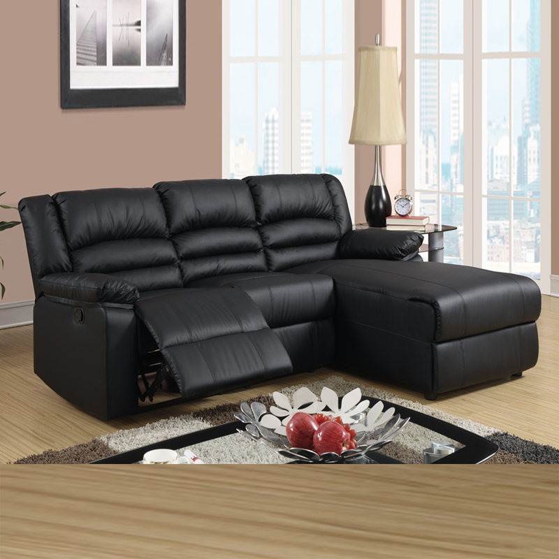 Black Leather Reclining Sectional Products Homesfeed. Recliner Sofa With Chaise Centerfieldbar Com & Black Leather Sectional Sofa With Recliners | Centerfieldbar.com islam-shia.org