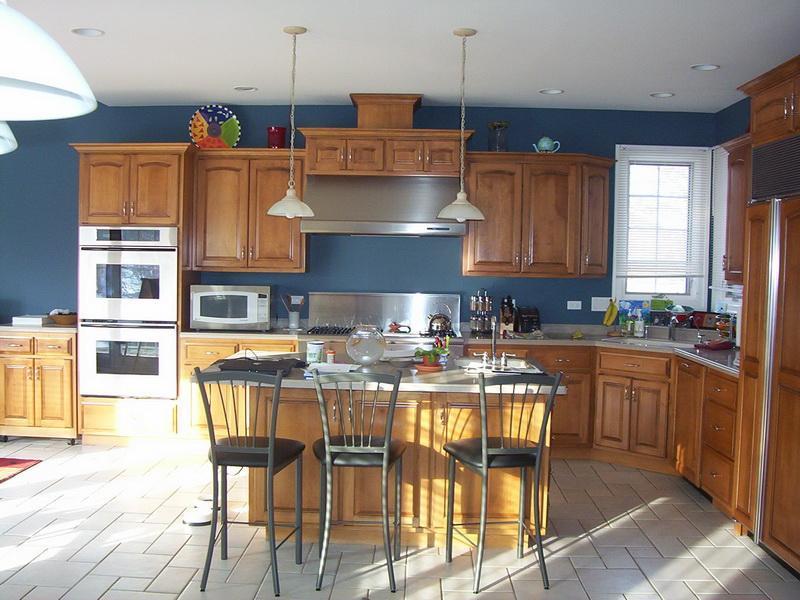 Kitchen Colors Grey Blue