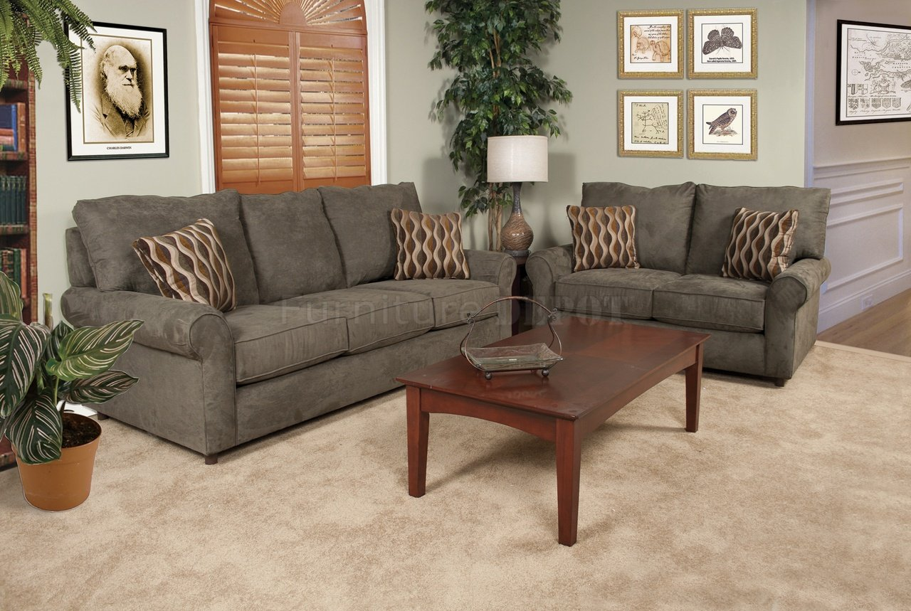 Sofa And Loveseats Sets Clic Traditional Brown Sofa