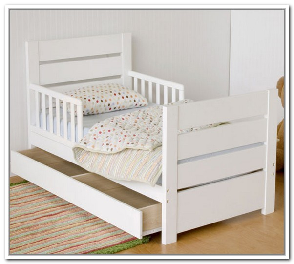 White Toddler Bed Storage