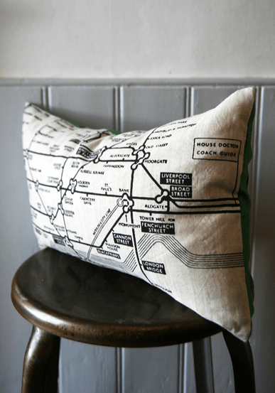 London underground map cushion, £39.95, Rockett St George