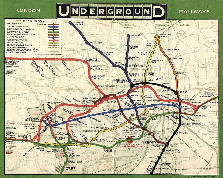 1908 tube map