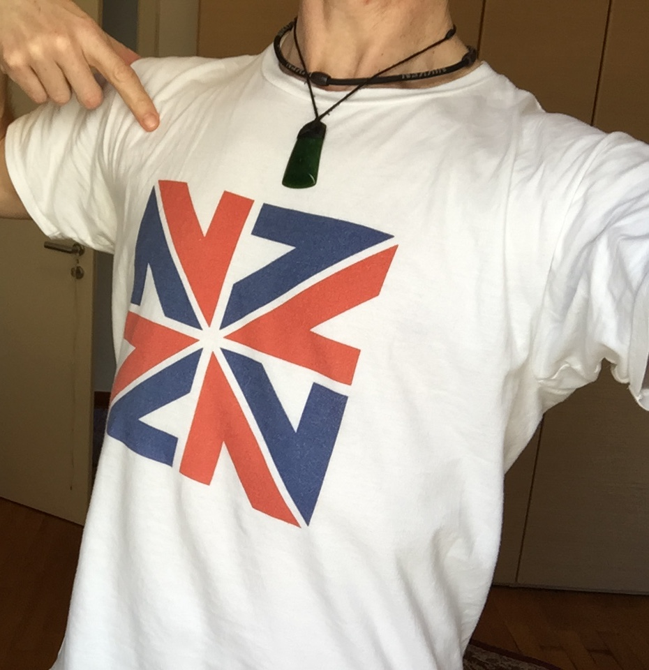 Homesick Kiwi NZZN mens t-shirt in the Homesick Kiwis shop