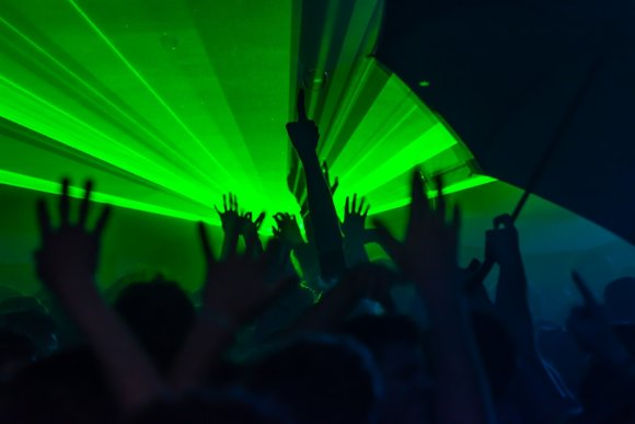 My First London Party - Green Lasers