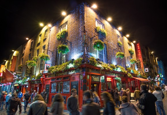 The Temple Bar in Dublin - Not the Tamperber after all! But this Expat Kiwi found it all the same!
