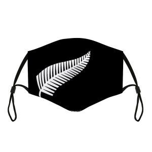 black and white silver fern cloth washable facemask
