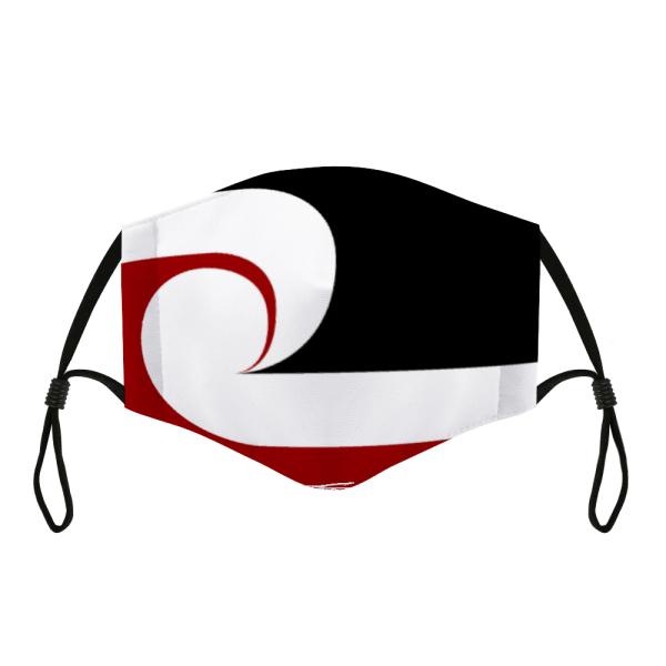 Adjustable Cloth Facemask Maori Flag