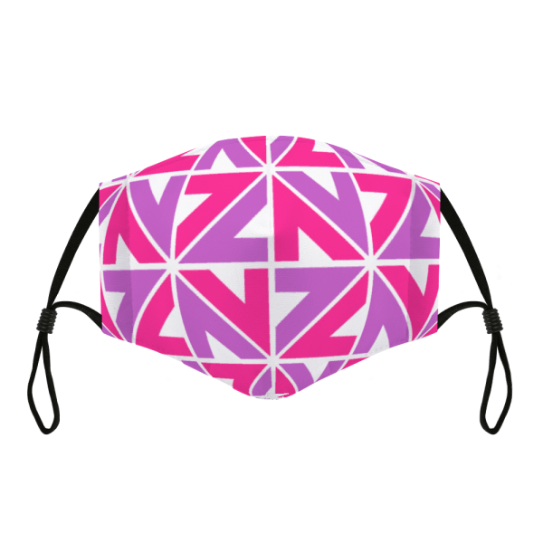 Adjustable Cloth Facemask NZZN Pink Purple