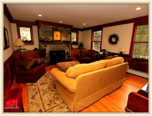 This absolutely beautiful living room is one of the many lovely features of this colonial Washington CT home for sale.