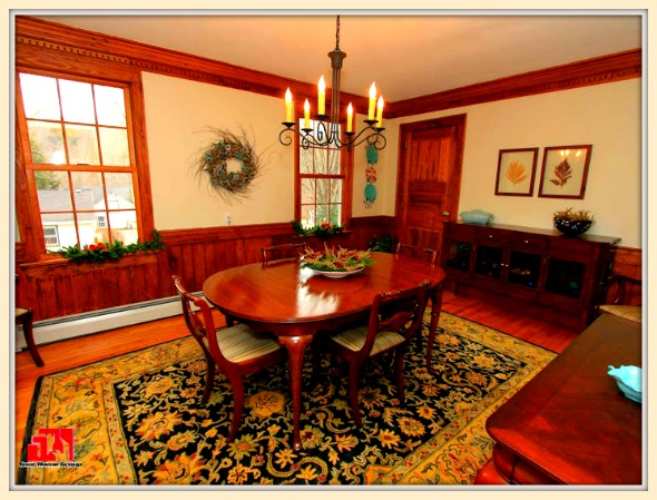 Enjoy romantic formal dining in the exquisite dining room of this beautiful colonial home for sale in Washington CT.