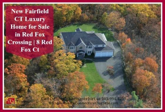 Residents of New Fairfield CT are bound to enjoy the magnificent feel of nature that surrounds this 6 bedroom luxury home for sale in Red Fox Crossing.