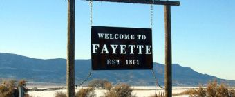 The welcome sign for Fayette Utah.