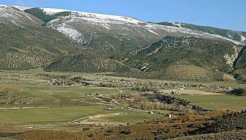 A view of the Mountains in Sterling Utah.