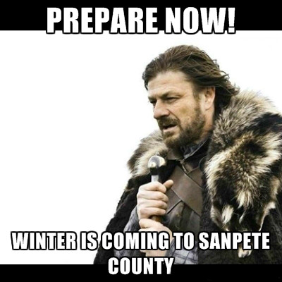 Game of thrones meme for winter is coming.