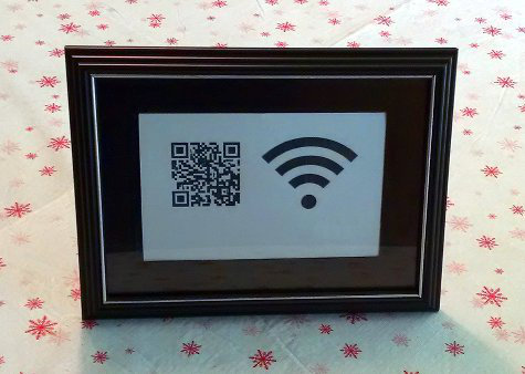 A wifi qr code in a frame as a housewarming gift.
