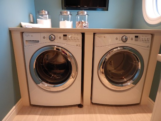 A clean laundry room