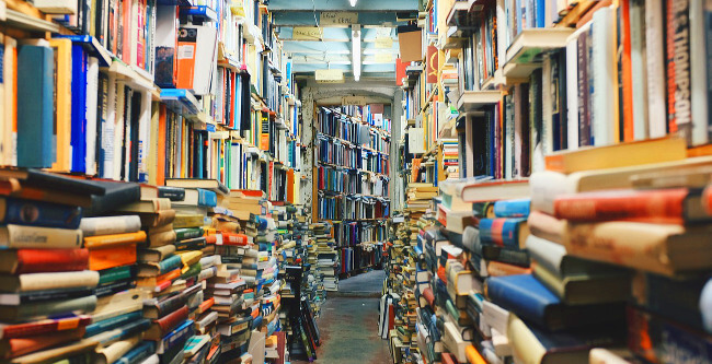 Researching books while preparing to sell your home