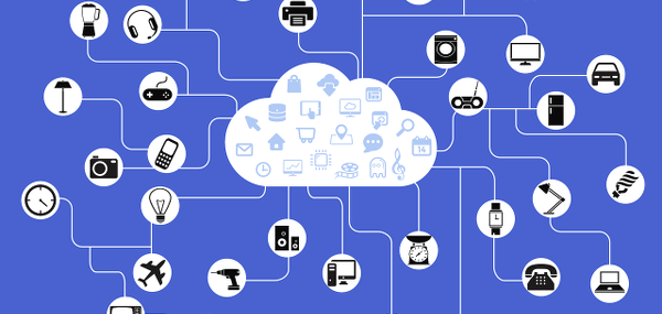 Many smart home gadgets connected together buy a cloud.