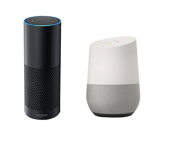 Smart home items smart hub from google and amazon.