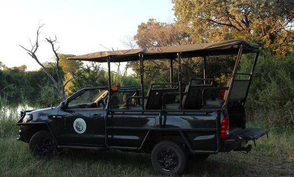 Safari truck in Zuid-Afrika