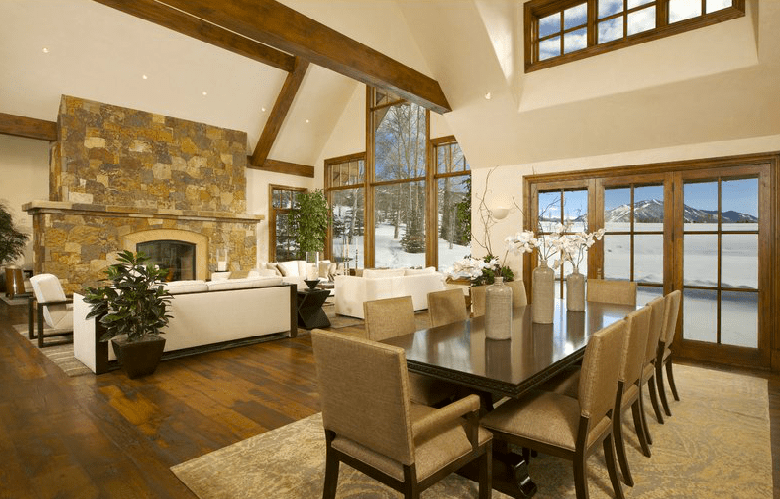 18 75 Million Mountaintop Stone Mansion In Aspen Co
