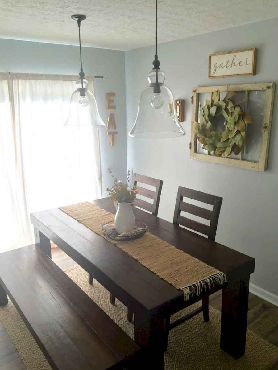 Lasting farmhouse dining room table and decorating ideas (24)