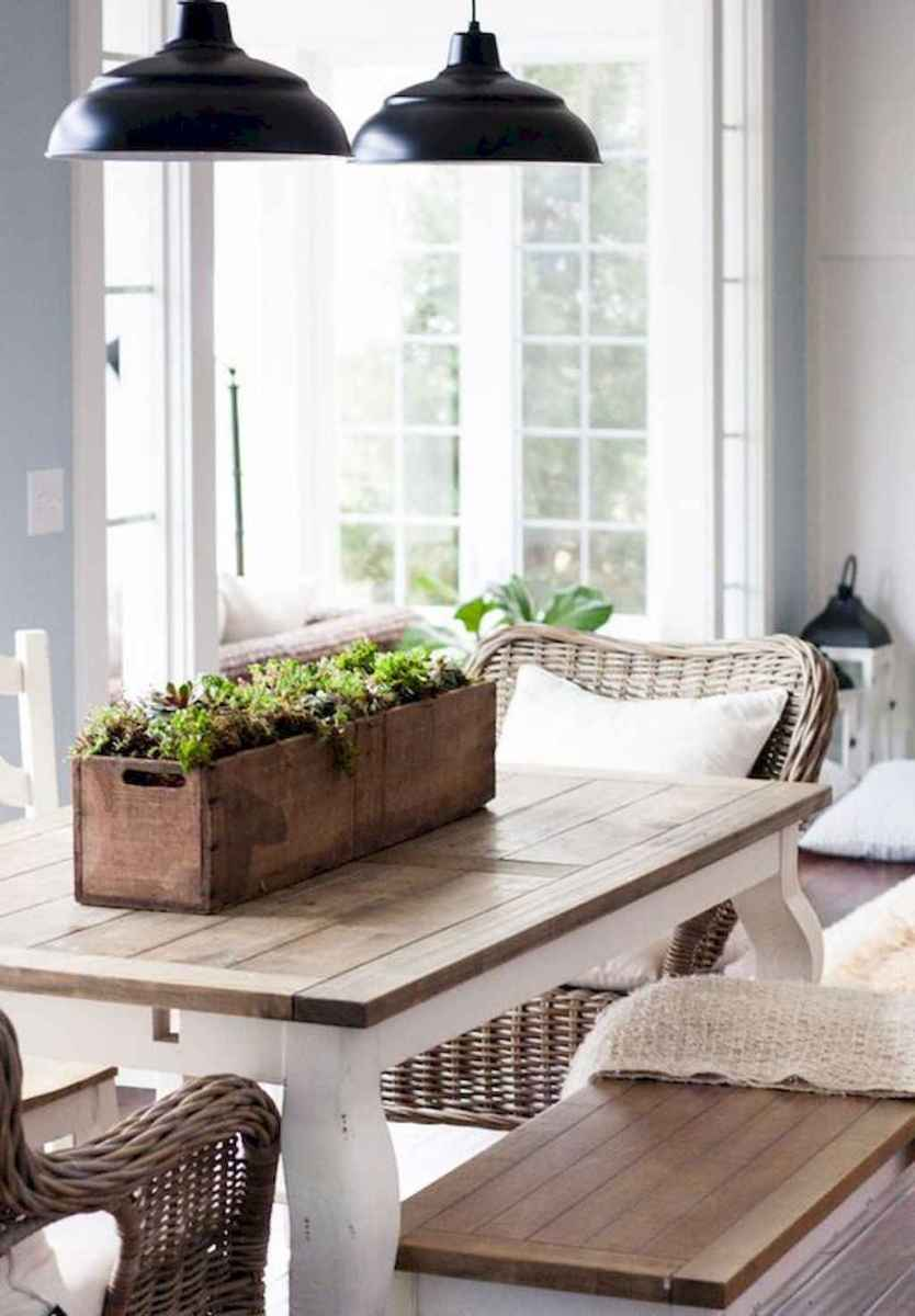 Lasting farmhouse dining room table and decorating ideas (49)