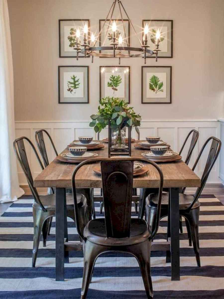 Lasting farmhouse dining room table and decorating ideas (65)
