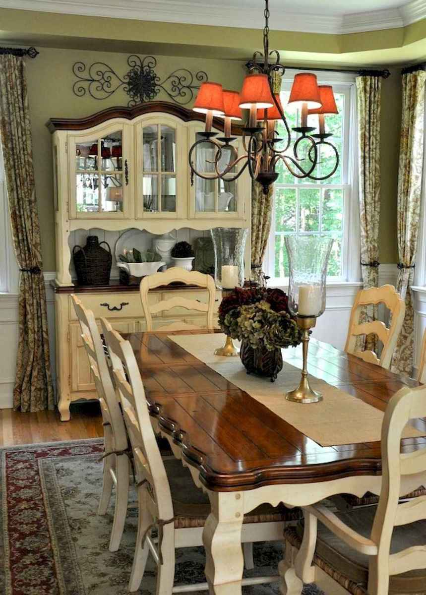 Beautiful french country dining room design and decor ideas (39)