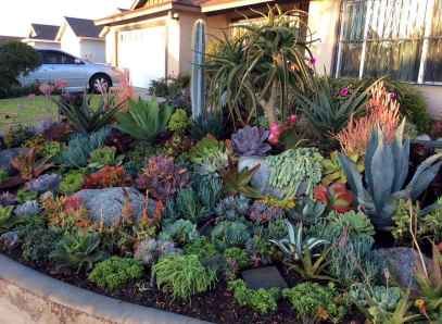 Beautiful front yard rock garden landscaping ideas (18)